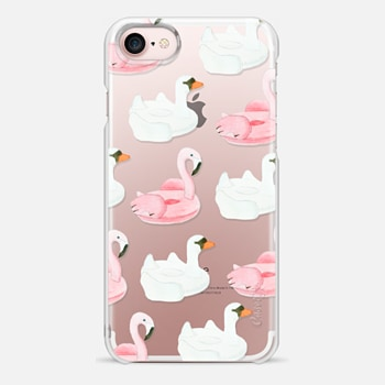 iPhone 7 Case Pool Float - Swan & Flamingo