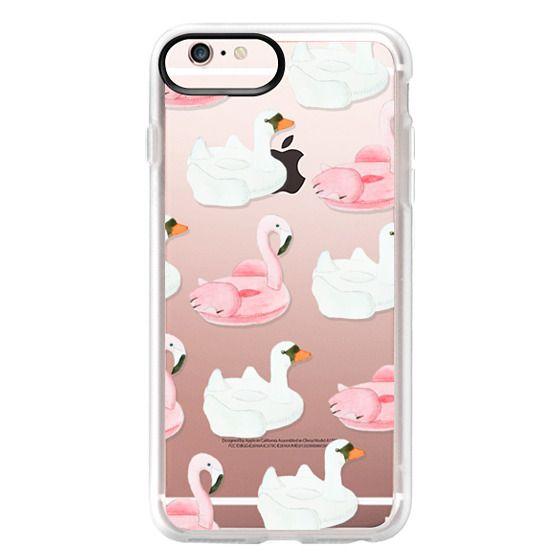 iPhone 6s Plus Cases - Pool Float - Swan & Flamingo