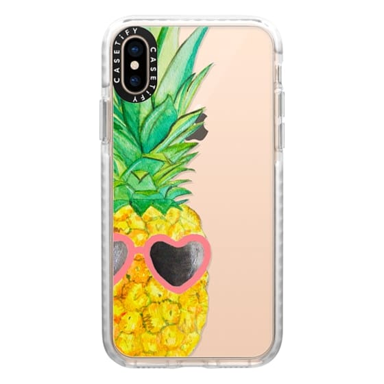 iPhone XS Cases - Pink Pineapple