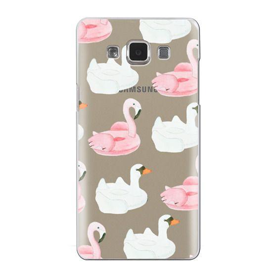 Samsung Galaxy A5 Cases - Pool Float - Swan & Flamingo