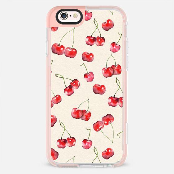 Cherry Pattern_ Watercolor Fruit -