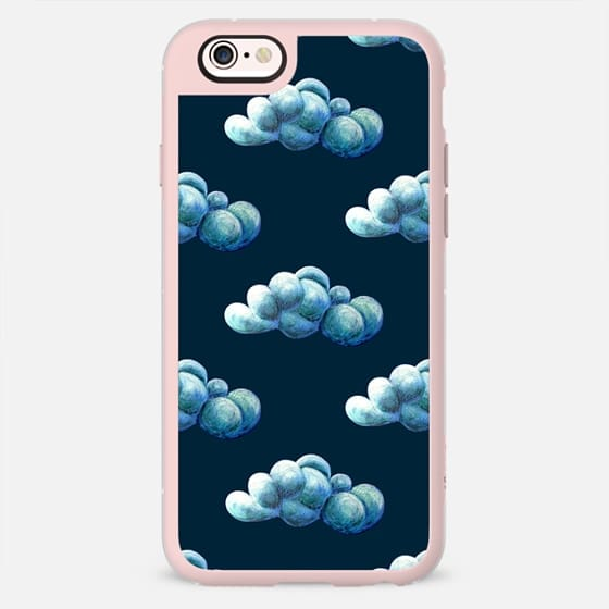Clouds. Navy -