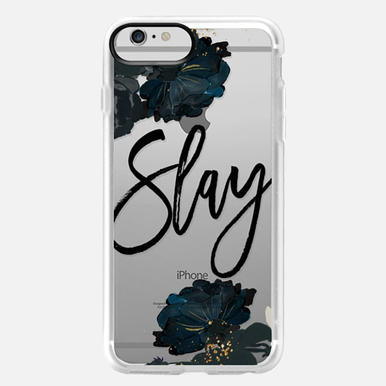 iPhone 6 Plus Case - Floral Black and White - Slay