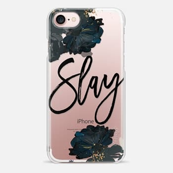 iPhone 7 Case Floral Black and White - Slay