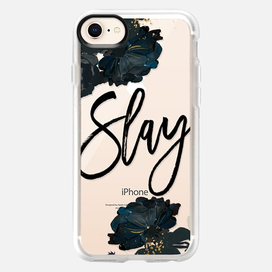 iPhone 8 Coque - Floral Black and White - Slay