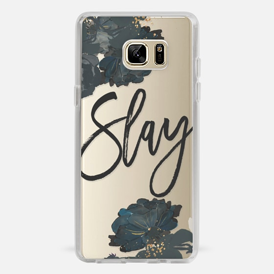 Galaxy Note 7 Capa - Floral Black and White - Slay