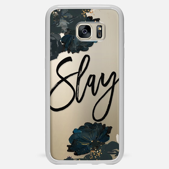 Galaxy S7 Edge Hülle - Floral Black and White - Slay