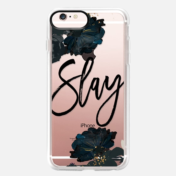 iPhone 6s Plus Capa - Floral Black and White - Slay