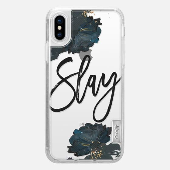Floral Black and White - Slay - Impact Case