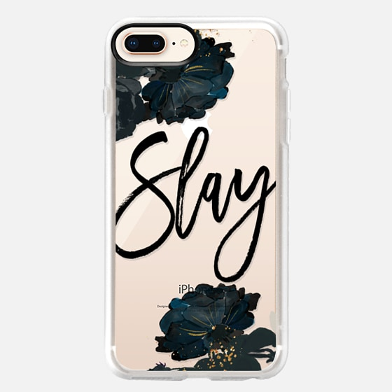 iPhone 8 Plus Capa - Floral Black and White - Slay
