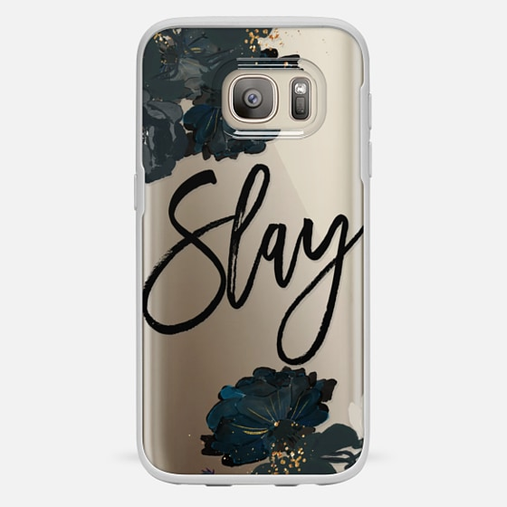 Galaxy S7 Coque - Floral Black and White - Slay