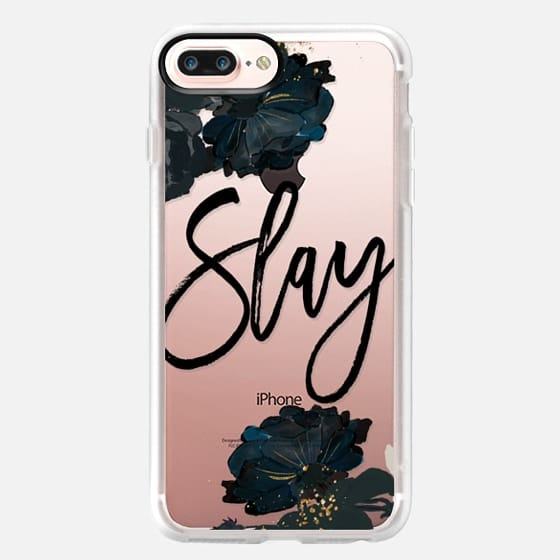 iPhone 7 Plus Case - Floral Black and White - Slay