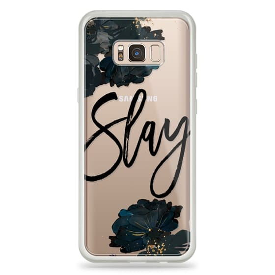 Galaxy S8 Plus Case - Floral Black and White - Slay