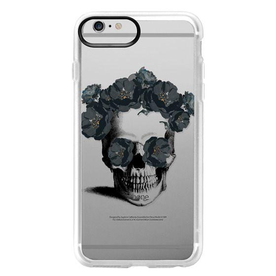 iPhone 6 Plus Cases - Black Floral Sugar Skull Design