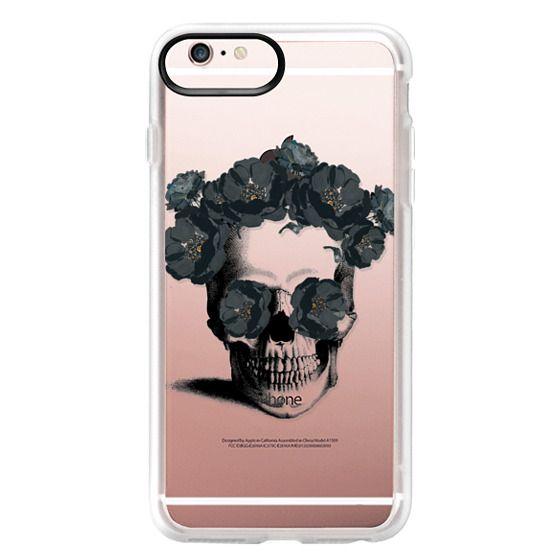 iPhone 6s Plus Cases - Black Floral Sugar Skull Design