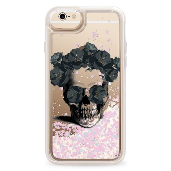 iPhone 6s Cases - Black Floral Sugar Skull Design