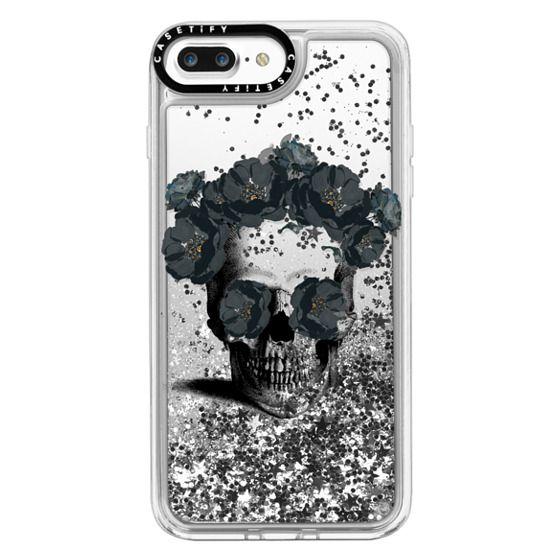iPhone 7 Plus Cases - Black Floral Sugar Skull Design