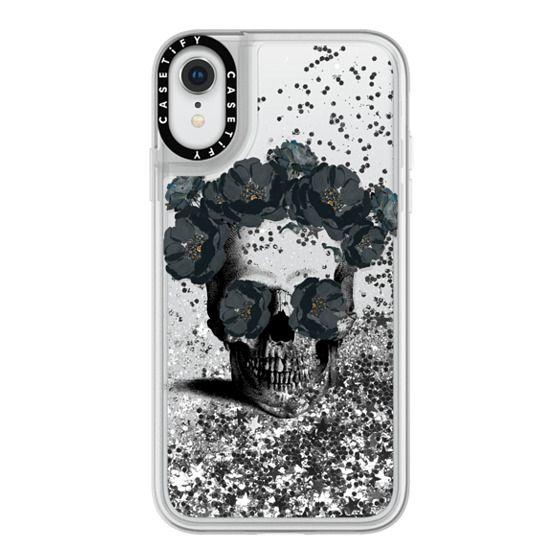 iPhone XR Cases - Black Floral Sugar Skull Design