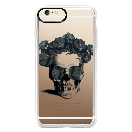 iPhone 6s Plus Cases - Black Floral Sugar Skull Design
