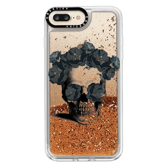 iPhone 7 Plus Cases - Black Floral Sugar Skull Design