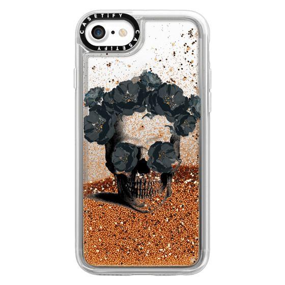 iPhone 7 Cases - Black Floral Sugar Skull Design