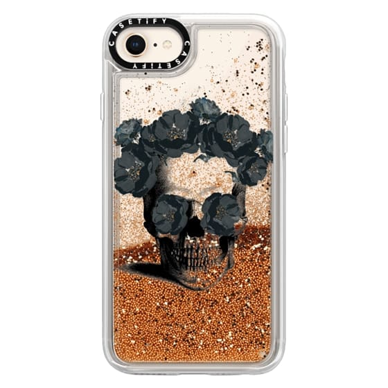 iPhone 8 Cases - Black Floral Sugar Skull Design