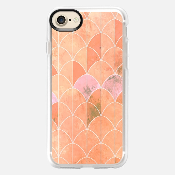 Mermaid scales. Peach and pink - Wallet Case
