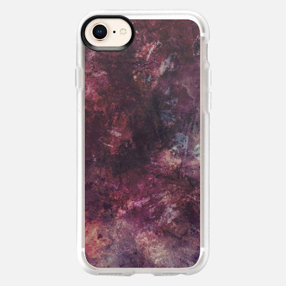 Purple grunge painting - Snap Case