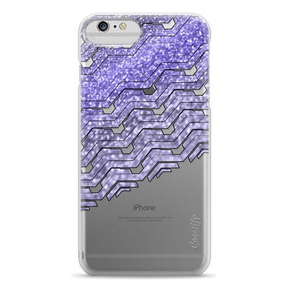 iPhone 6s Cases - Glitter purple chevron