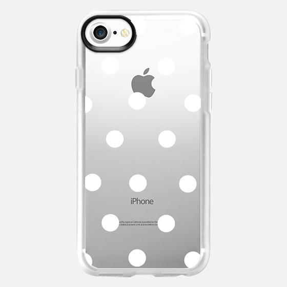 white polka dots - Wallet Case