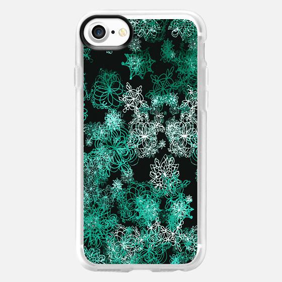 dark mint snow - Wallet Case