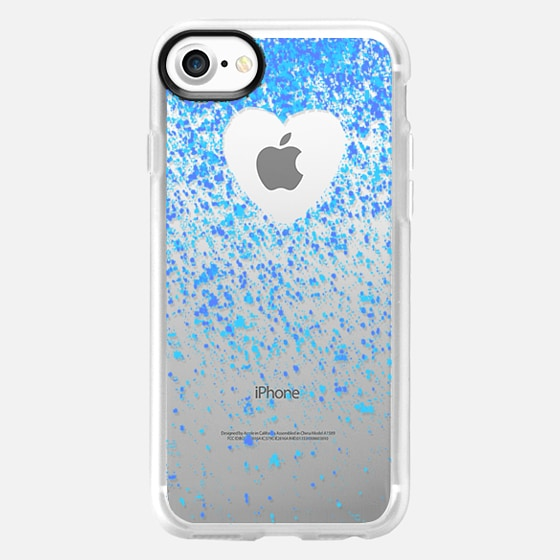 heart inside blue sparks - Wallet Case