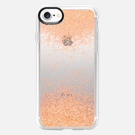 peach sparks metaluxe - Wallet Case
