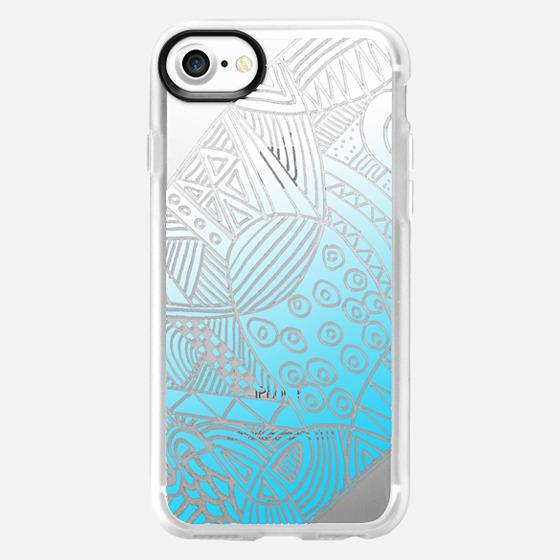 light blue pattern - Wallet Case