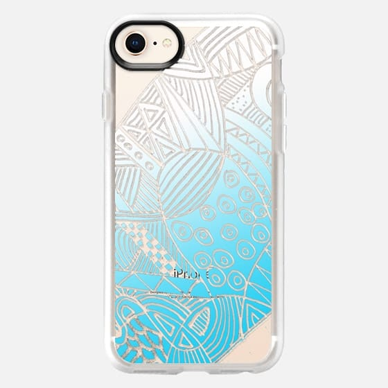 light blue pattern - Snap Case