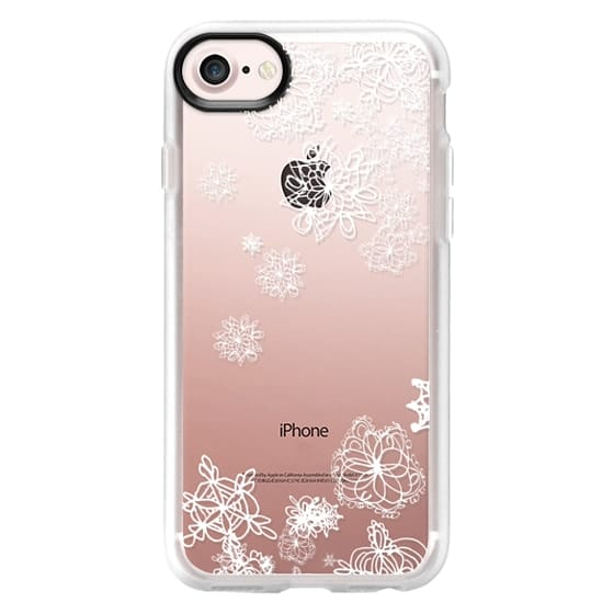 separation shoes 615ca a04e3 Impact iPhone 7 Case - snow white flowers