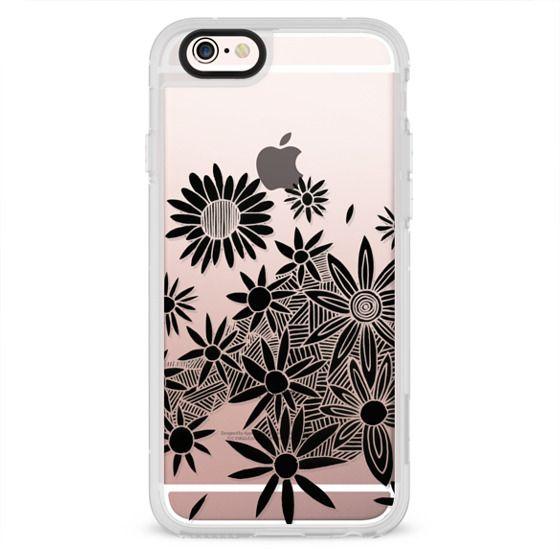iPhone 7 Cases - black daisies