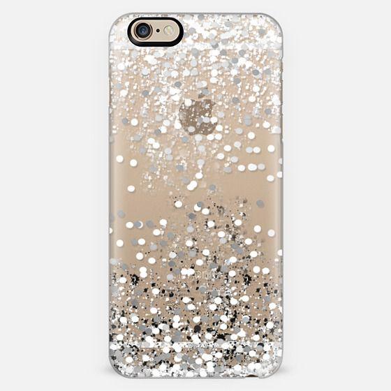 silver confetti -