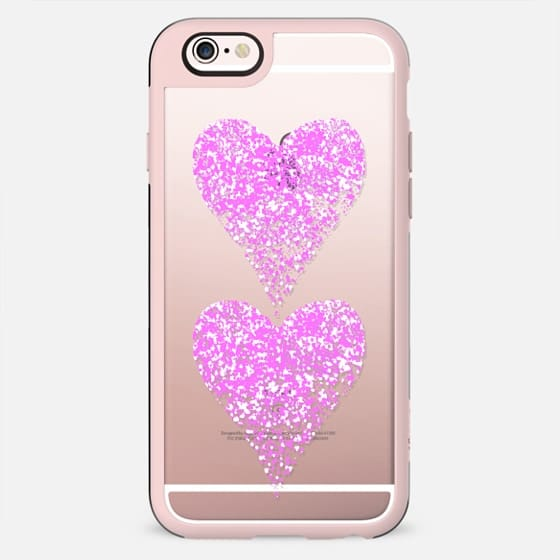 two pink sparkly hearts - New Standard Case