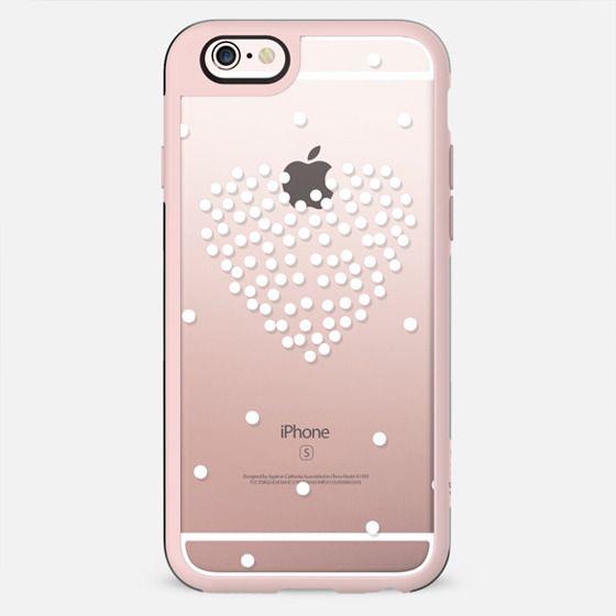 white polka dot heart - New Standard Case
