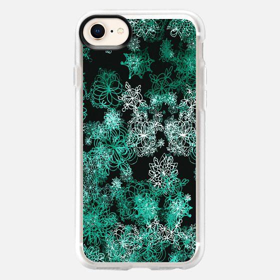 dark mint snow - Snap Case