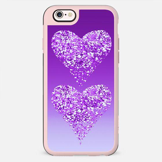 two hearts in purple - New Standard Case
