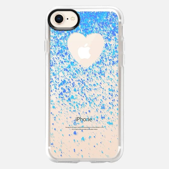 heart inside blue sparks - Snap Case