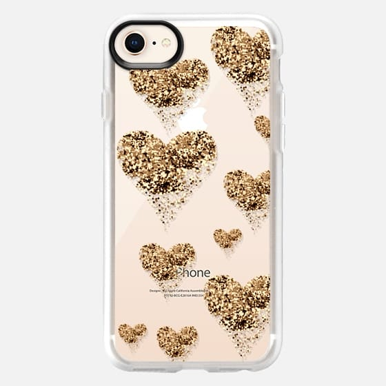 sparkly golden hearts - Snap Case