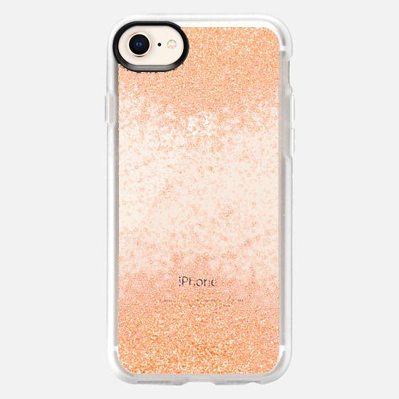 peach sparks metaluxe - Snap Case