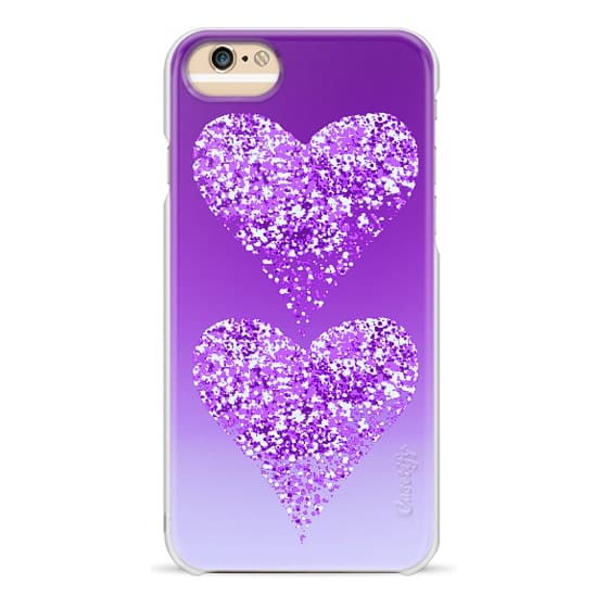 iPhone 6s Cases - two hearts in purple