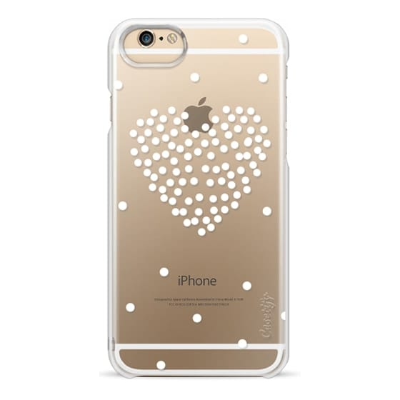 iPhone 6s Cases - white polka dot heart