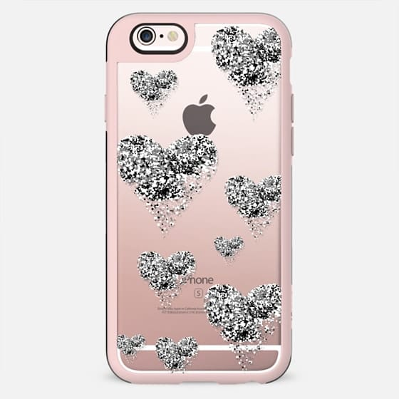 silver sparkly hearts - New Standard Case