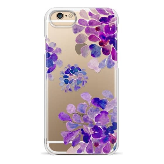 iPhone 6 Cases - purple flowers
