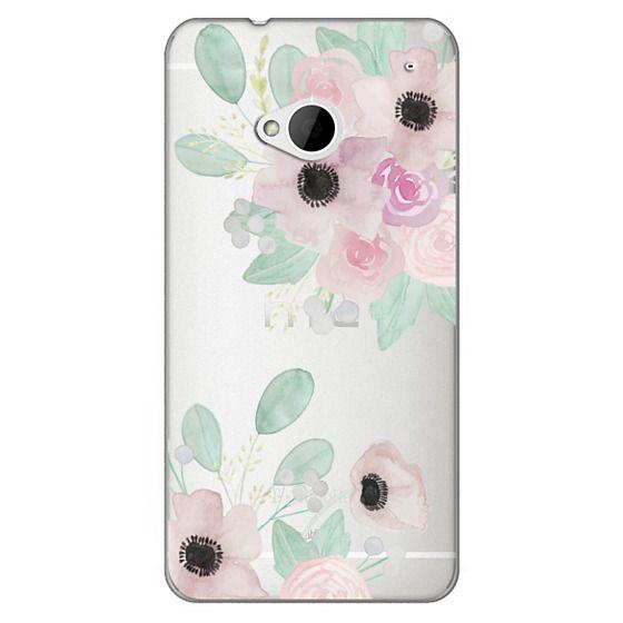 Htc One Cases - Anemones + Roses